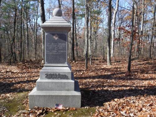 20th Indiana Volunteer Infantry Regimental Monument