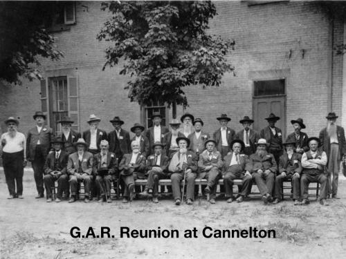 G.A.R. reunion at Cannelton Indiana