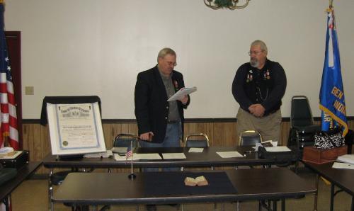 Officer Installation 12/09/2012. (L to R) Bruce Kolb - John Bowyer.