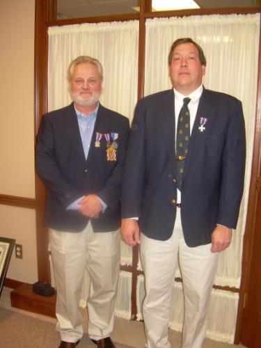 New Camp Commander 12/11/2010. (L to R) Garry Walls - Tim Beckman.